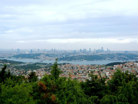 Camlica Hill: View of the European side of Istanbul.