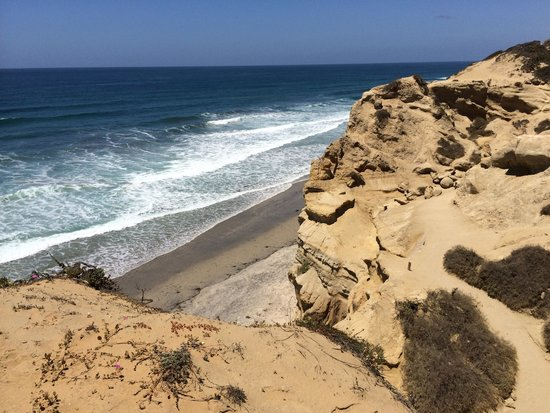 Torrey Pines State Natural Reserve: Cliff and coast