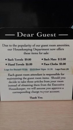 Econo Lodge Winslow: Sign in guest rooms