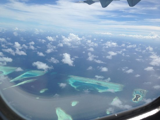 Royal Island Resort & Spa : View from plane
