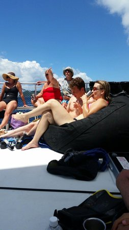 Kekoa Sailing Expeditions: Awesome bean bag chairs! And they provide you with a cup with your name for the journey! :)