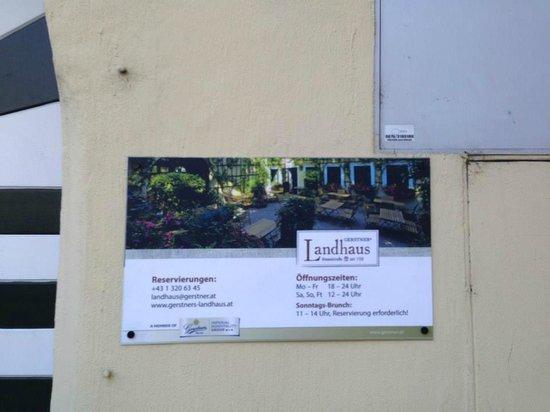 Ottakringer Landhaus : pagina y tarjeta