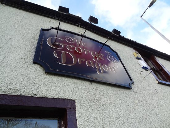 The George And Dragon Bar: Wall sign
