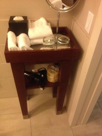 The Westin Pasadena: Bathroom Organizer