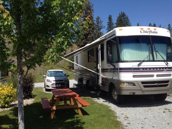 Canyon Farms RV Park : Space 4, identical to the others.