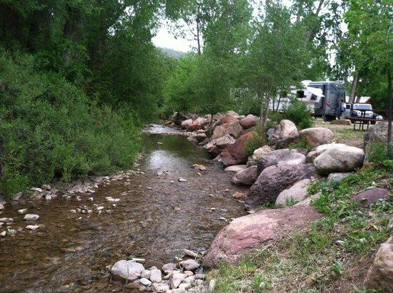 Lightner Creek Campground: creekside