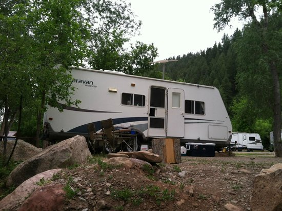Lightner Creek Campground: all settled in!
