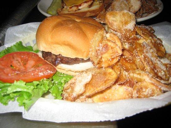 Yardarm Bar & Grill: Our Burger & Sanddollars