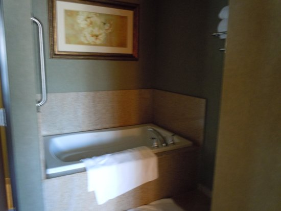 Holiday Inn Express Hotel & Suites Gold Miners Inn-Grass Valley: nice tub in the suite