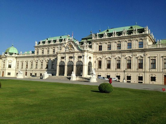 Schloss Belvedere: frente de PAlacio