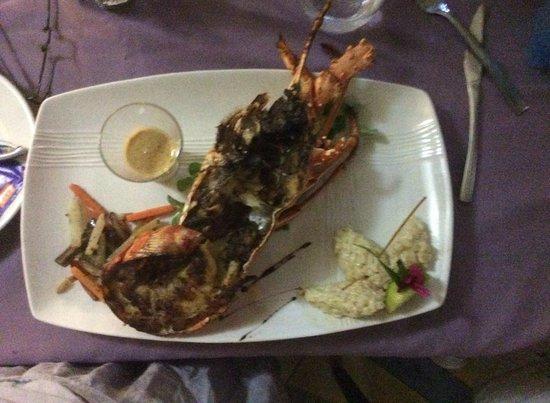 Le Mabouya : langouste grillée