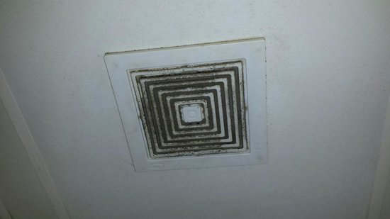Econo Lodge: Dirty vent in the bathroom