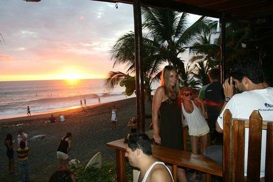 Backyard Bar Playa Hermosa: view from restaurant