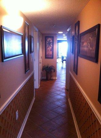 South Shore Villas: Hallway/Entry to Condo.