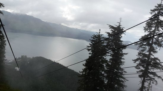 Icy Strait Point ZipRider : a piece of the view just before going down. Perfect!!!!!!