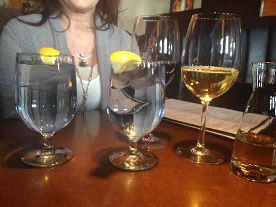 Lemon Water, red wine and Chardonnay, Joey Kenaston  |  1550 Kenaston Blvd, Winnipeg, Manitoba,