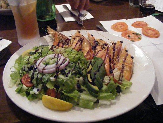Eccoqui: My king prawn salad.