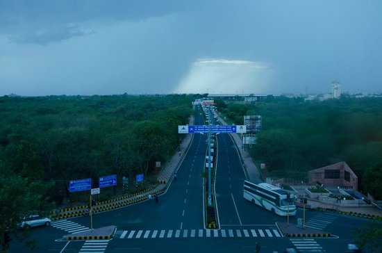 The Pride Hotel Nagpur : view from 413, airport view and also the sunset point