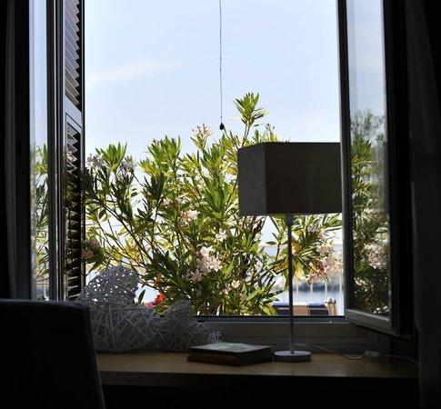 Finestra della camera quadrupla Hotel Tigullio