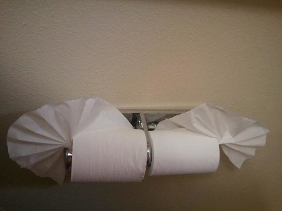 Holiday Inn Express Hotel & Suites: Denver Tech Center: fanned toilet paper