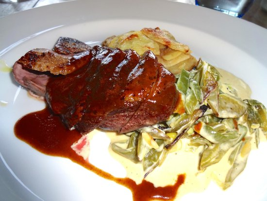 Delicious duck breast at The George