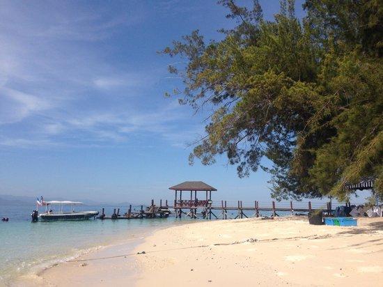 Mamutik Island: Beach