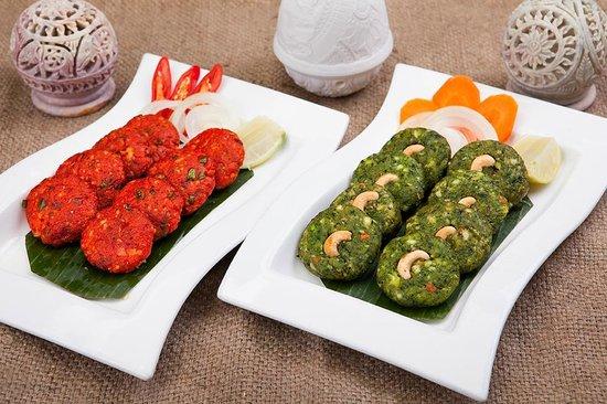 Queen's Tandoor: Vegetable Kebabs