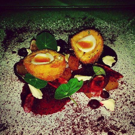 St Helena: Smoked salmon scotch egg