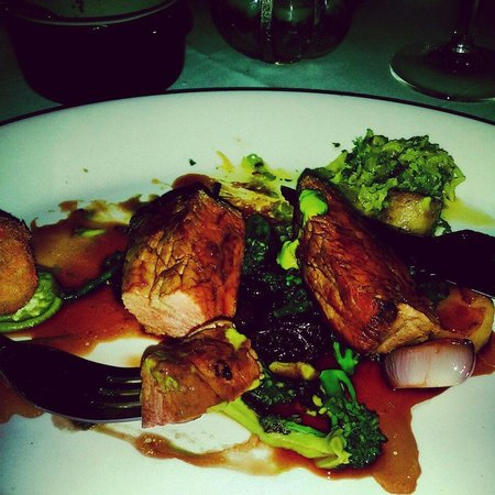 St Helena: Amazing beef and braised broccoli dish - the confit caabge was something else!