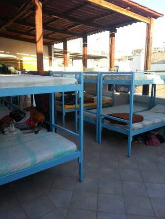 Youth Hostel Rethymno: Outdoor bunks anyone? :) There are of course indoor ones too