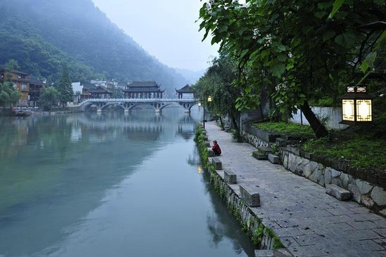 Zhashui County, China: Misty morning