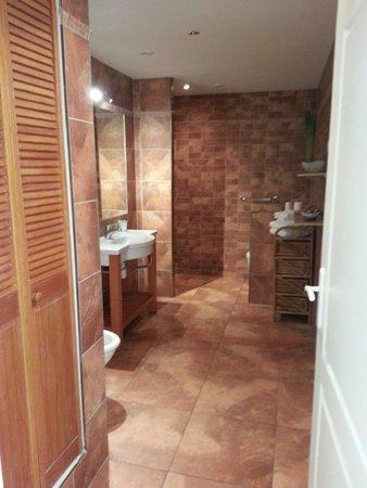 Domaine des Chais de Thenac: Salle de bain de la chambre canadienne