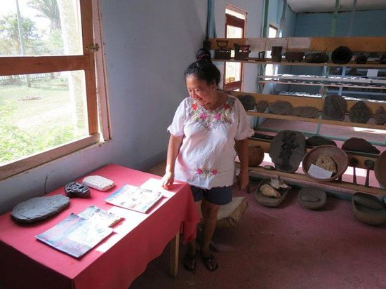Tanah Mayan Art Museum : Showing off some of the local magazines she's been featured in