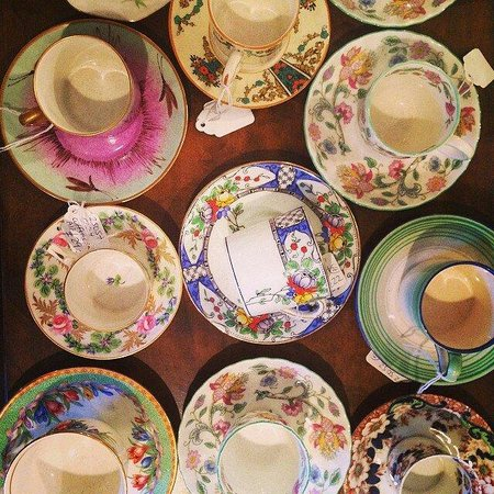 Teacups and beautiful ones at that in Northcote Road Antiques Market