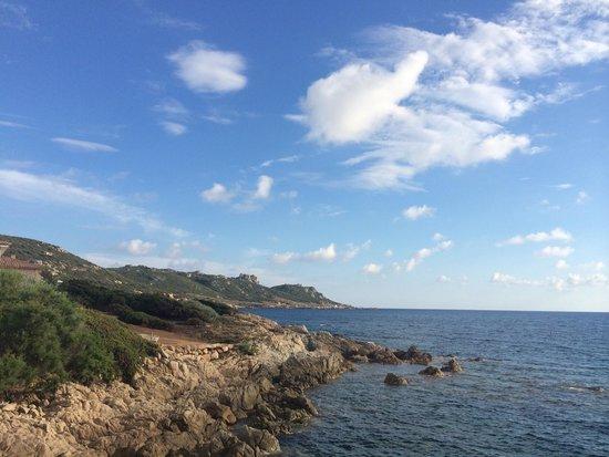 Hotel du Golfe, uitzicht vanaf privé-strandje.....