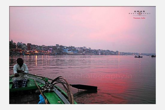 Ganges River: evening view from boat