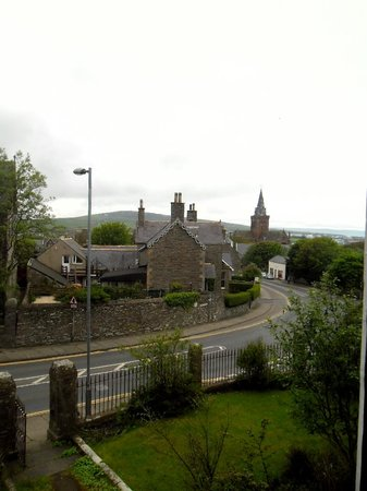 2 Dundas Crescent: View looking down toward town with St Magnus