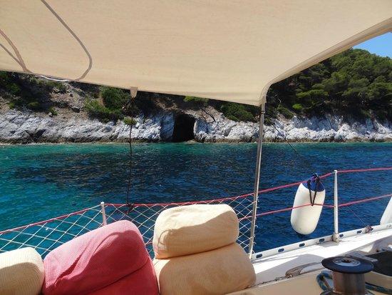 Sail the Day - Skiathos Sailing Trips: sea cave