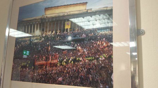 Anfield Stadium : Picture of Liverpool celebrating the Champions League 2005