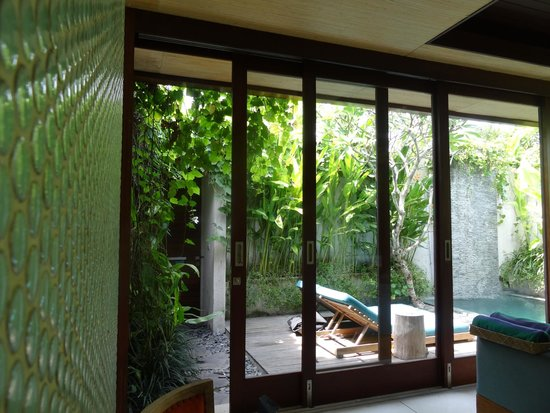 Maca Villas & Spa: View out to our private deck