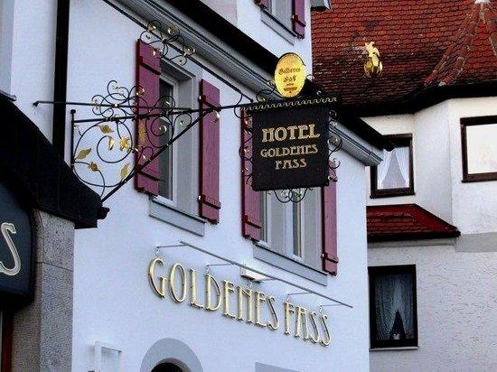 TOP Hotel Goldenes Fass: De nombreuses enseignes dont celle de l'hotel