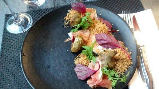 Arsenic Restaurant : Artichaut, Œuf & Jambon de Parme