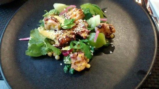 Arsenic Restaurant : Poulpe, Tomate Verte & Avocat