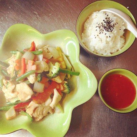 Creperie De Aurinko : Chicken teriyaki with rice