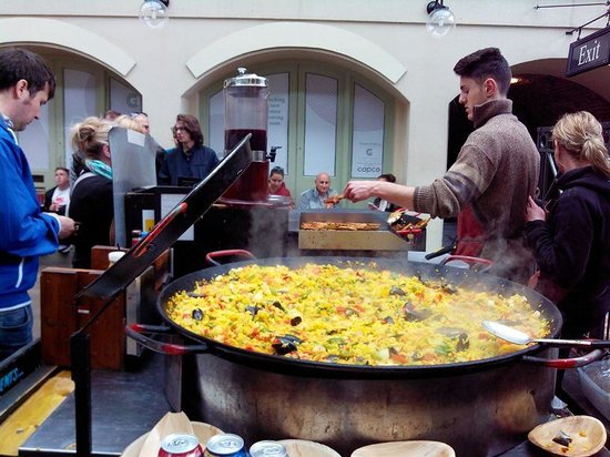 Covent Garden : Paella being cooked