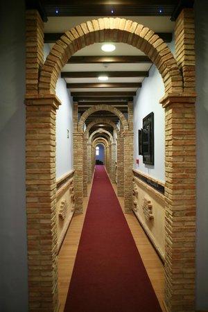Balneario San Andres: Hotel - pasillo de habitaciones