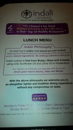 Indali Lounge: Een gezond curryhuis !?