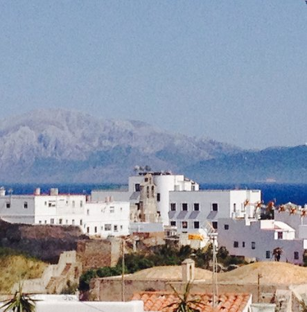 Dar Cilla: View from the terrace, with mountains of Morocco in the distance