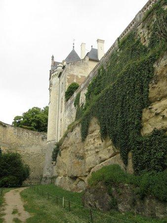 Château de Brézé : a view across the dry moat