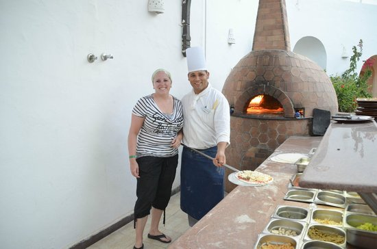 Arabella Azur Resort: lekker verse pizza savonds